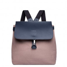 Vilda Metal Hook Earth Brown Navy Leather