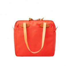 Tote With Zipper Mackinaw Red