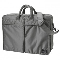 """Tanker New 2 Way Briefcase 15"""" Silver Gray"""