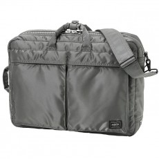 """Tanker New 3 Way Briefcase 15"""" Silver Gray"""