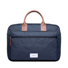 Emil Navy with Cognac Brown Leather