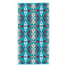 Serviette de Bain Jacquard Tucson Turquoise