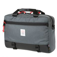Commuter Briefcase Charcoal Black Leather