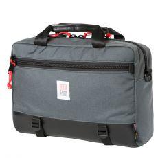 Commuter Briefcase Gris Cuir Noir
