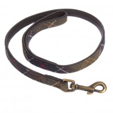 Leather Dog Lead Tartan