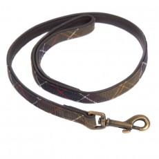 Leather Dog Lead Tartan