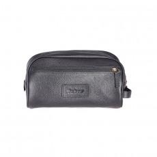 Leather Wash Bag Black