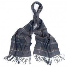 Galindale Tartan Scarf Black Grey