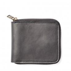 Dawson Leather Zip Wallet Black