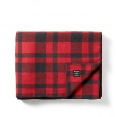 Mackinaw Wool Blanket Red Black