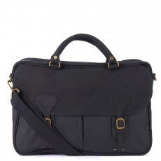 Wax Leather Briefcase Black