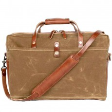 Courier Briefcase Bush Brown