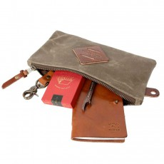 Zip Pouch Field Tan
