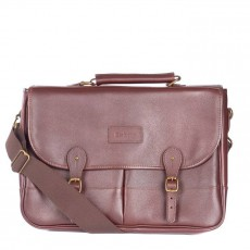 Leather Briefcase Chocolate