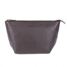 Kilnsey Leather Washbag Black