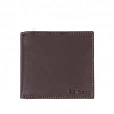 Leather Billfold Coin Wallet Brown