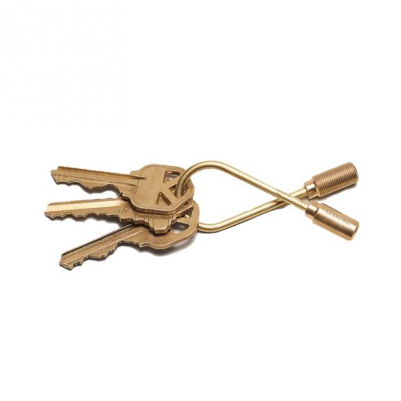 Helix Keyring Brass