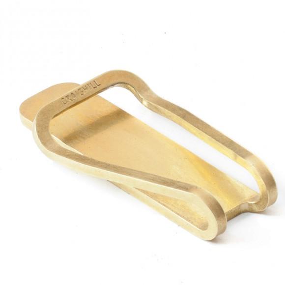 Square Money Clip Brass