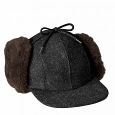 Double Mackinau Cap Charcoal Dark Brown
