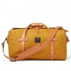 Medium Rugged Twill Duffle Bag Chessie Tan