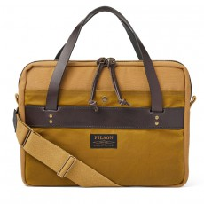 Rugged Twill Compact Briefcase Tan