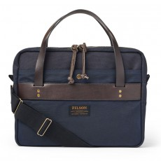 Rugged Twill Compact Briefcase Navy