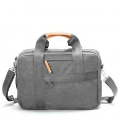 Office Bag Organic Washed Grey