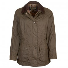 Classic Women Beadnell Waxed Jacket Olive