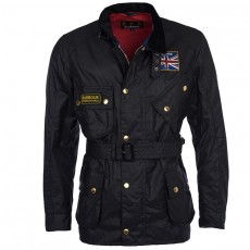 Union Jack Wax Jacket Black