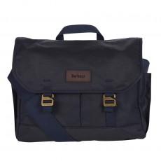 Essential Wax Messenger Bag Navy
