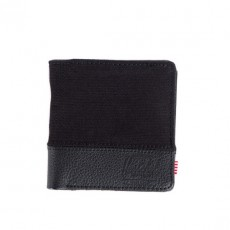 Kenny Black Cotton Canvas / Black Leather