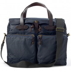 "24-Hour Tin Cloth Briefcase 15"" Bleu"