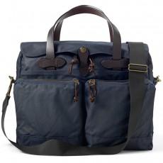 "24-Hour Tin Cloth Briefcase 15"" Navy Messenger Taske"