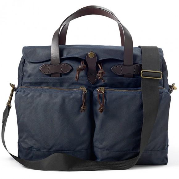 "24-Hour Tin Cloth Briefcase 15"" Bleu"