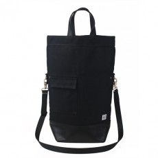 Upright Black Waxed Leather