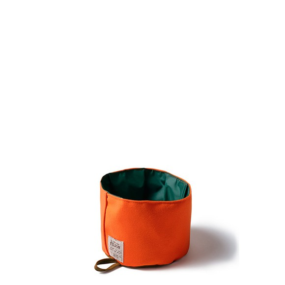 Dog Bowl Tan Blaze Orange